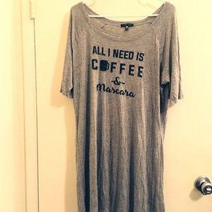 Tart grey Shirt or dress Sz XL